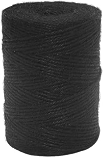 Vivifying 656 Feet Black Jute Twine, Natural 2mm Jute Cord for Crafts, Wrapping, Garden (Black)
