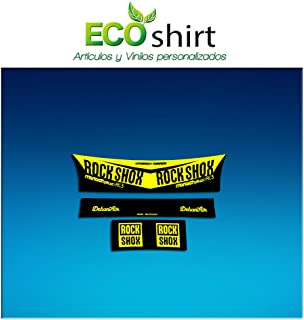 Ecoshirt 4L-38C5-H8TH Pegatina Sticker Shock Rock Shox Monarch Plus Rc3 Am203 Aufkleber Decals Autocollants Amortiguador M...