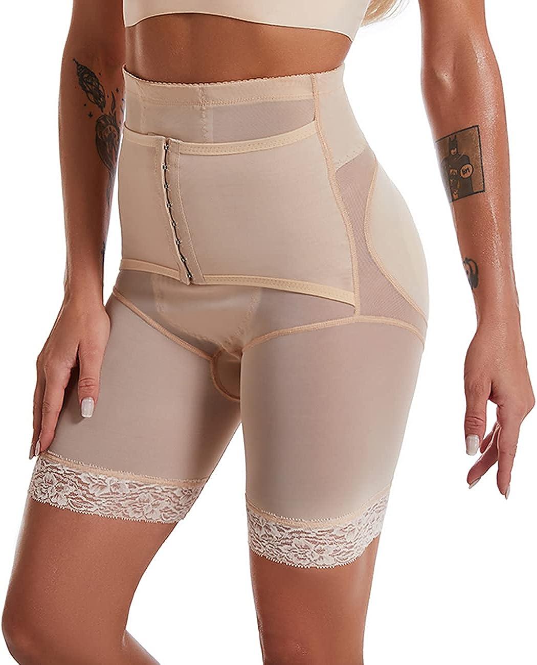 Double Tummy Control Shapewear for Women High Waist Butt Lifter Boyshorts Adjustable Body Shaper Thigh Slimmer Pants