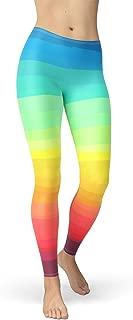 Mid//High Waist Yellow Rainbow Rules Sunflowers Sport Leggings Capri Length