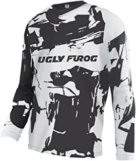 Uglyfrog Downhill Jersey Motorbikes Protective Clothing Long Sleeve Winter Fleece Warm Cycling Retro Bike Shirt SJFZR16