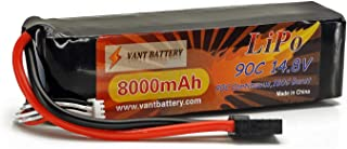 14.8V 8000mAh 4S Cell 90C-180C LiPo Battery Pack w/ Traxxas High Current Style Connector + Warranty (Traxxas X-Maxx 8S, Unlimited Desert Racer Truck, UDR)