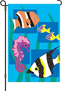 Premier Kites 51141 Garden Flag, Under The Sea, 12 by 18-Inch