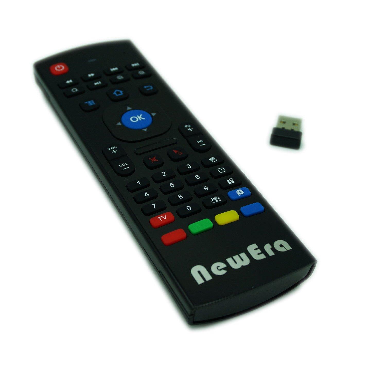 New Era 2,4 gHz mando a distancia inalámbrico 3 Gyro + 3 G-sensor Fly Air ratón teclado QWERTY para Android caja de TV/Smart TV/HTPC: Amazon.es: Electrónica