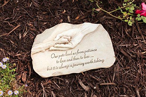 Evergreen Garden Paw in Hand Devotion Stepping Stone