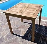 ASS Teak Holztisch Gartentisch Garten Tisch 80x80cm Gartenmöbel Holz sehr robust - 8