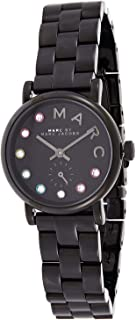 Marc by Marc Jacobs Women's Black Dial Stainless Steel Band Watch - MBM3425