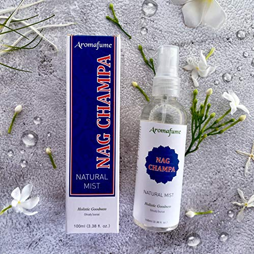 Aromafume Nag Champa - Meditation and Wellness Natural Mist (3.3 Oz) Clean, Smoke-Free, Non Toxic Alternative to Incense & a Fantastic Way to imbibe Your Favorite New-Age Aromatic Delight