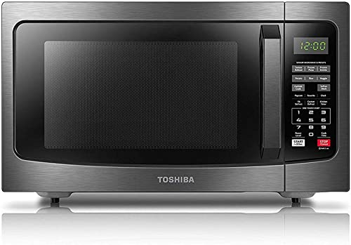 Toshiba EM131A5C-BS Microwave Oven with Smart Sensor Easy Clean Interior, ECO Mode and Sound On-Off, 1.2 Cu. ft, Blac...