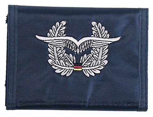 portefeuille, nylon, bleu, w/insigne , Couleur:blau/Luftwaffe