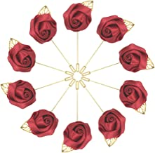 10pcs Wedding Lapel Flower Pin Rose for Man Suit Decoration