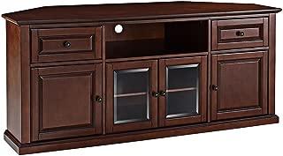Crosley Furniture 60-inch Corner TV Stand - Vintage Mahogany