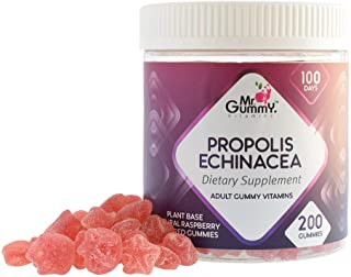 Mr Gummy Vitamins Propolis & Echinacea Supplement | Sambucus Nigra, Elderberry, Propolis Extract, Vitamin C | Support a He...