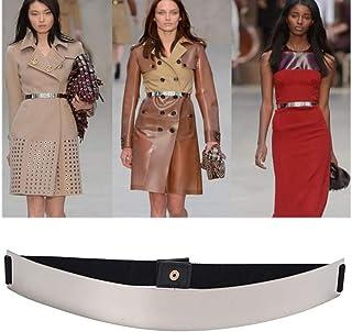 57210d7b255 ALAIX Fashion Womens Gold Mirror Stretch Waist Dress Belt