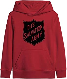 Kids Salvation Army Logo Classic Pullover Hoodie Soft Hooded Sweatshirts Long Sleeve T-Shirt for Boys Girls