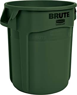 green garbage cans