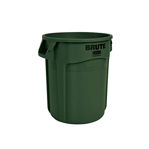 Rubbermaid Commercial Products Fg262000dgrn Brute Heavy Duty Round Trash Garbage Can 20