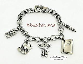 """Pulsera""""BIBLIOTECARIA"""" (Temática Profesiones)"""