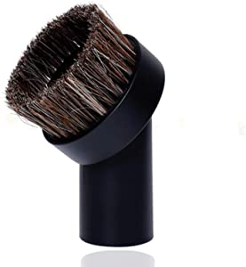 Round Dust Brush, Vacuum Brush Attachment Replacement, Universal Soft Horsehair Bristle Vacuum Cleaner Dust Brush, 25mm Horse Hair Brush,1.25