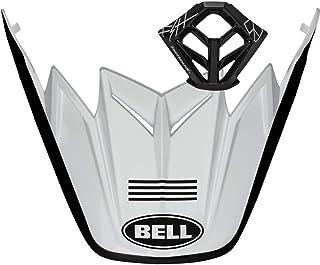 Kit de viseira/bocal Bell Moto-9 – Fasthouse (4 listras/branco/preto)