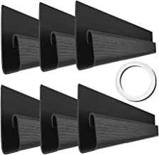 "J Channel Cable Raceway - 70.8"" Computer Desk Cable Organizer - JCCR-04 Desk Cable Management System with Mounting Tape - Wood Grain 6 Count Cord Covers for Office, Home, Kitchen (11.8"" Each, Black)"
