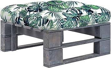 vidaXL Tuinhocker pallet grijs geïmpregneerd grenenhout
