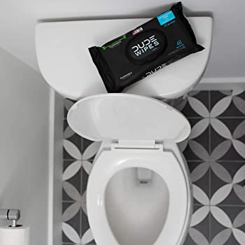 Dude Wipes Flushable Wipes Dispenser (3 Packs 48 Wipes), Unscented Wet Wipes with Vitamin-E & Aloe for at-Home Use, S...