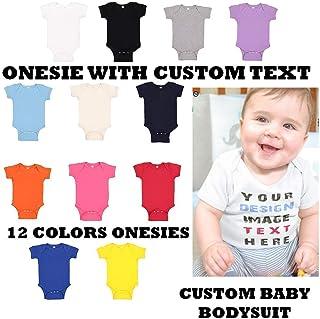 Custom Text Baby Bodysuit, Baby Bodysuit, Custom Onesie, Baby Onesie, Personalized Baby Bodysuit, Baby Shower Gift, Baby Gift - Newborn baby onesie - Personalized with Your Text