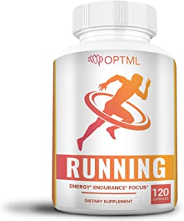 OPTML Running Performance Supplement, Boosts Energy, Increased Endurance, Enhanced Focus, Reduced Stress, Run Longer and F...