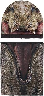 Cerdá Conjunto 2 Piezas Jurassic Park Set de bufanda, gorro y guantes, Marrón (Marrón 001), One Size (Tamaño del fabricant...