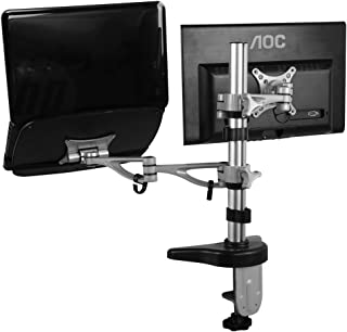 FLEXIMOUNTS Full Motion Dual Arms Desk Mount for MSI Dell Asus Acer Samsung Notebook and LCD Monitor (M14)