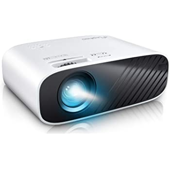 "ELEPHAS 2020 Mini Movie Projector, 5000 Full HD 1080P Video Projector, with 50, 000 Hours LED Lamp Life and 200"" Display, Compatible with USB/HDMI/VGA/Laptop/iPhone/TV Stick/TF Card"