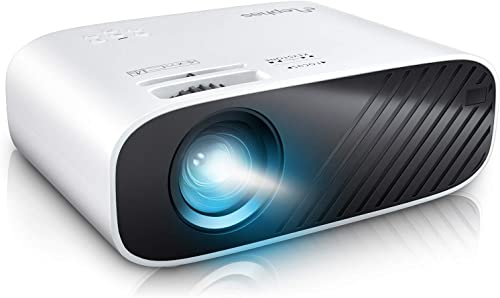 ELEPHAS Mini Movie Projector, with 5000 LUX Brightness and 50, 000 Hours of Lamp Life, Supports Full HD 1080P and 200...
