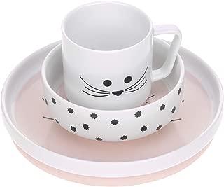 L/ÄSSIG Kinderteller 2er Set Uni Plate Set grau//rosa