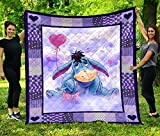 Eeyore Quilt King Queen Twin Throw Size Birthday for Dad Mom Husband Wife Kids Son Daughter Unique Quilted for Gifts