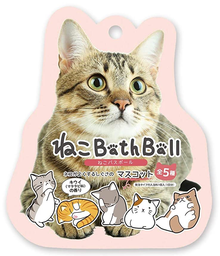 形式あさりホイストノルコーポレーション 入浴剤 ねこ バスボール おまけ付き キウイの香り OB-NEB-1-1