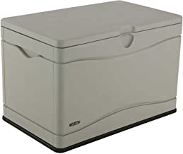 Lifetime 60059 Black Bottom & Desert (Tan) Sides and Lid Outdoor Storage Box-80 Gal, 80 Gallon, Desert Sand