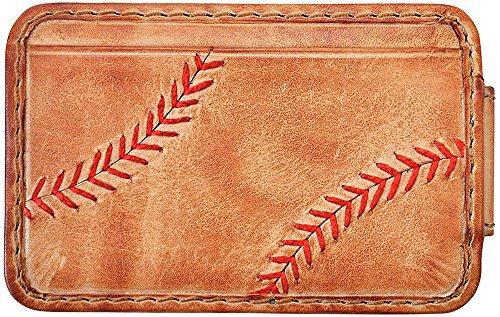 Rawlings Baseball Stitch Front Pocket Wallet (Tan)