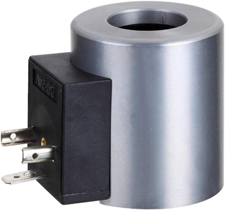 LTH-GD Electroválvula mecánica Conector Z8-60YC DIN DC 12V 24V RAC110V 220V Fuerza De 60N Hidráulico Solenoide Direccional Válvulas Electromagnéticas Bobina Control de válvulas de Gas y líquido