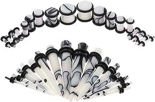 F Fityle 32Pcs Acrylic Ear Taper Plug Stretching Kits Jewelry Gauges