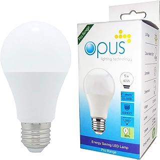 Opus Lighting Technology LED Light Bulb, 5 W, Daylight