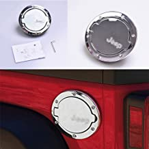 AUNAZZ Jeep Wrangler gas cap cover Jeep Wrangler Unlimited Accessories For Jeep Wrangler 2007-2017 Years Chrome 1 PCS