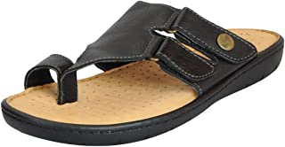 Dr.Scholls Men's Leather Toe Slippers