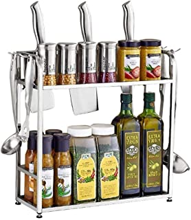 Support à comptoir pour porte-épices, support à comptoir, porte-épices, organisateur de paquet de tablette de cuisine, pou...