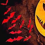 ZTH 5 Sets creativos 3D Bat Pegatinas de Pared Sala de Estar de Halloween Dormitorio decoración Suministros