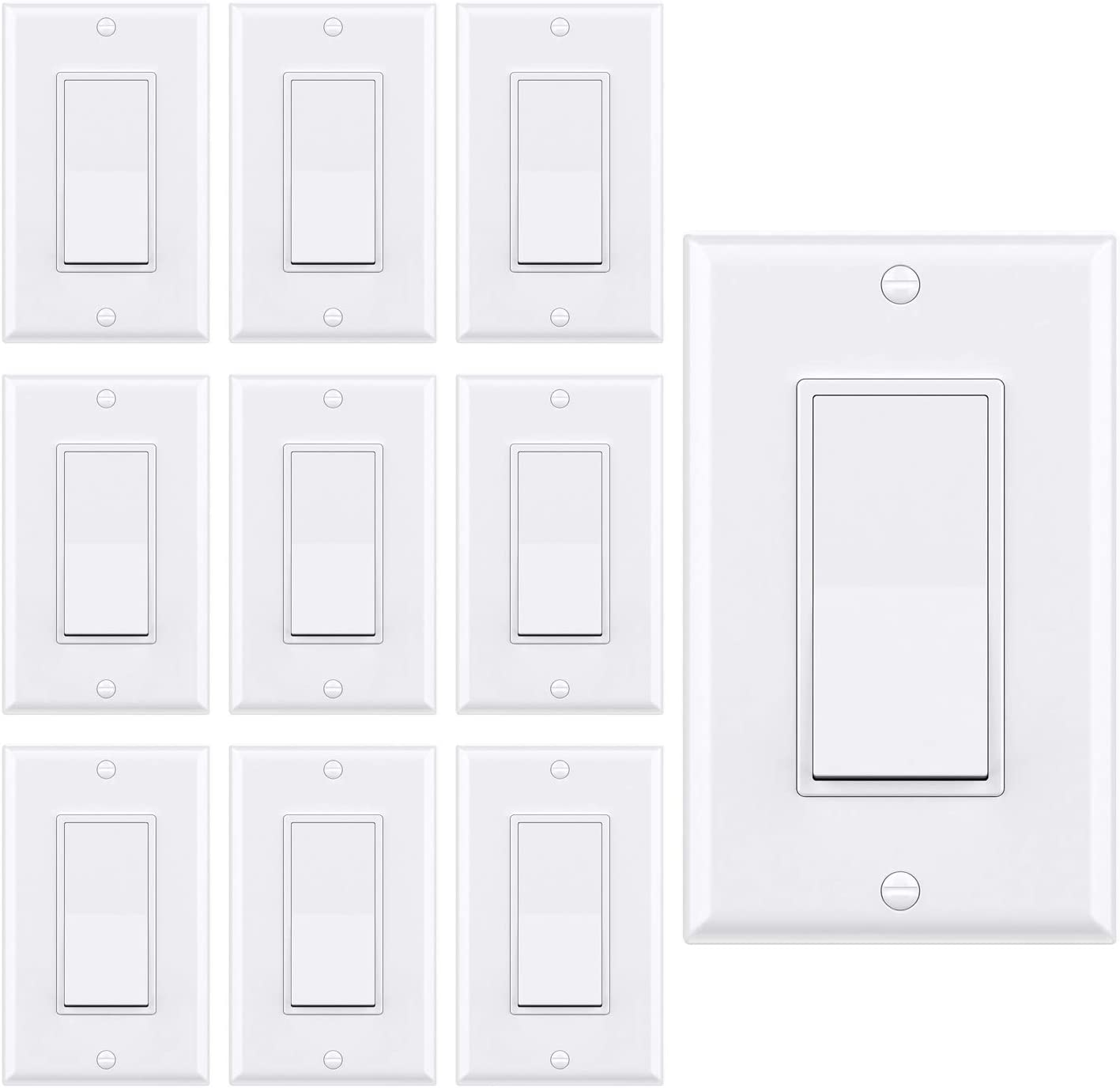 Special Campaign WEBANG Single-Pole Decorator Rocker Light 3 Switch Max 83% OFF Ground Wire