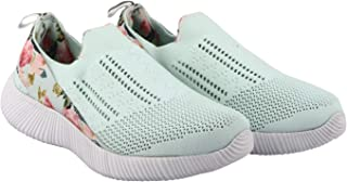 KazarMax XXIV Ladies's/Women Mint Floral Slipon's Socks SneakersTrainers [WSS004] (Made in India)