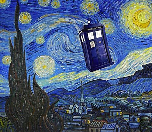 YMLINXI DIY Pintura Al Óleo Cabina De Teléfono Abstracta Pintar por Numeros para Adultos Y Principiantes Pintura por Números con Pinceles Y Pinturas 40X50Cm