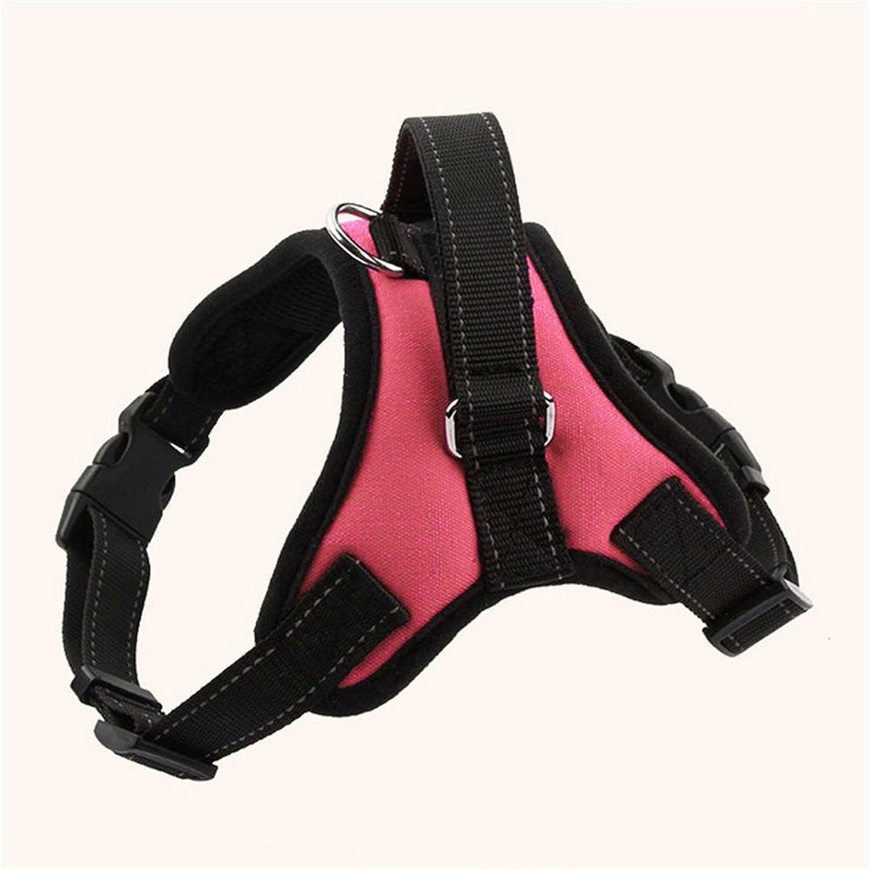 OOFWY Pet Dog Nylon Chest Strap Pet Dog Collar Black Large and medium  Sized Dog Traction Rope