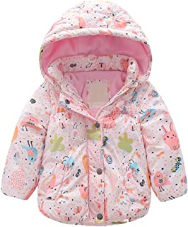 Zhhlinyuan Sportswear Kids Rain Quilted Thickening Jackets and Coats Boys Girls Perfect for Camping in Cold Weather